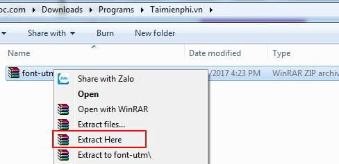 How to set the utm font on a computer