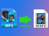 Instructions for converting MP3 audio to WMV online or using software