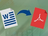 Install Word to PDF Converter, convert word files to high quality pdf