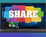 Instructions to save the theme to share on Windows 10