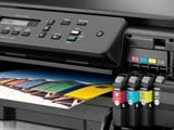 How to check how much ink is in the printer?
