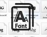 How to use Font UTM to write text