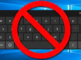 Fix virtual keyboard error automatically shown on Windows 10