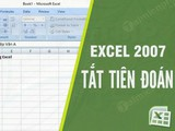 How to turn off prediction in Excel, turn off suggestions in excel 2016, 2010, 2003