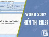 How to display Ruler in Word 2007