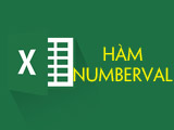 The NUMBERVALUE function in Excel, converts text to numbers