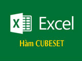 CUBESET function in Excel, determines the set of elements to be calculated