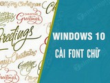 How to install fonts for Win 10