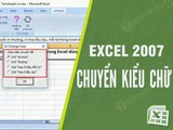 How to switch lowercase, uppercase the first sentence, each word in Excel using vnTools