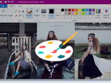 How to stitch Paint photos on Windows 10