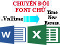 How to convert VnTime to Time New Roman in Word and Excel