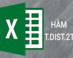 T.DIST.2T function in Excel