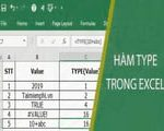 TYPE function in Excel
