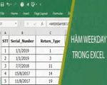 WEEKDAY function in Excel