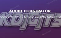 Instructions for creating beautiful 3D letters in Illustrator