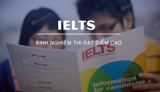 Experience IELTS exam with high scores