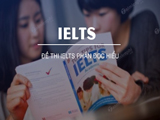 IELTS test with reading comprehension section