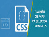 Learn syntax and selector in CSS