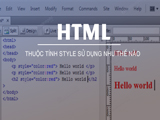 Style attributes in HTML
