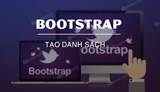 How to create a list with Bootstrap?
