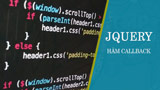Callback function in jQuery
