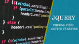 Getter and Setter methods in jQuery