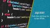 How to insert content into HTML documents with jQuery