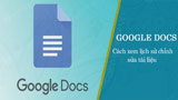 How to view document editing history on Google Docs