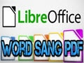 Instructions to save Word files to PDF in LibreOffice