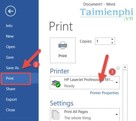 How to print 2 mat in word 2016