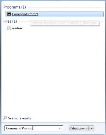How to restart the command prompt on Windows 7