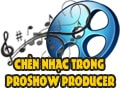 Insert music in Proshow Producer, add music to video