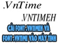 How to install VntimeH font and VNTime font on computers and laptops?
