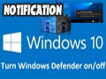 Disable, turn off the Windows Defender notification on Windows 10