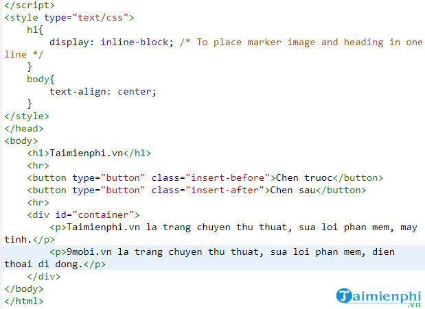 How to insert content into html file using jquery 7