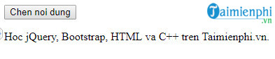 How to insert content into html file using jquery 12