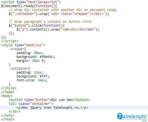 How to insert content into html file using jquery 13