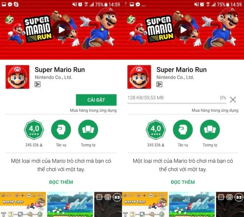 how to play super mario run on android