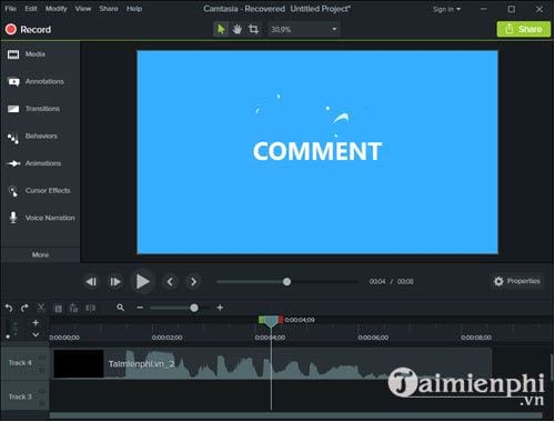 how to make a lie in video with camtasia 2