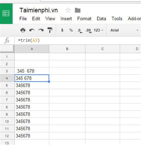 How to delete page space in google sheets 2