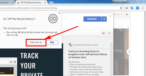 How to save web history in Google Chrome's privacy list 2