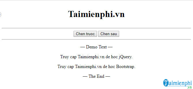 how to insert content into html text in jquery 10