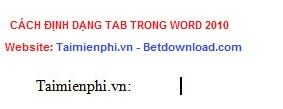 how to tab in word 2010