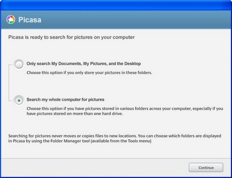 how to upload picasa state