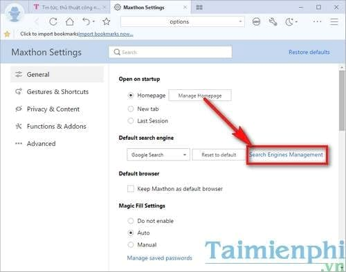 manage the memory search on the maxthon browser on windows 2
