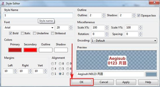 aegisub how to create a style and make it easy 5