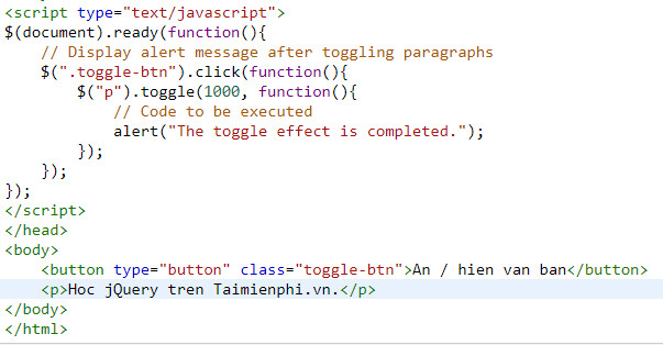 show the jquery html html text 11