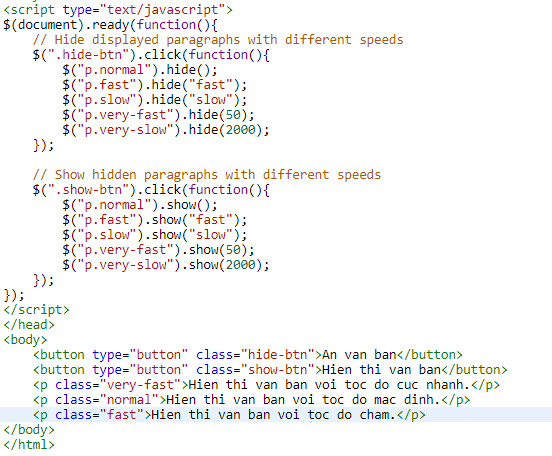 show the jquery html html text 3