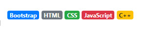 badge in bootstrap 4