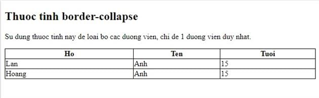 Bang table in html 6